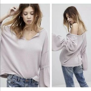 We The Free People Dahlia Bell Slv Thermal Shirt